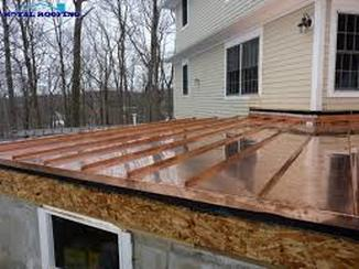 Copper Sheeting for Low-Pitch Roof Richmond Virginia Roofing