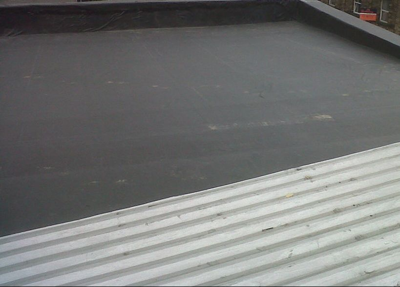 EPDM Rubber Flat Roof Richmond Virginia Roofing