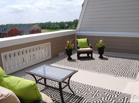 Residential EPDM Rubber Flat Roof  Richmond Virginia Roofing